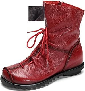 Women's Genuine Leather Casual Soft Flat Boots