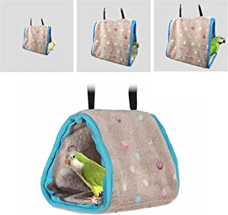lan yue guang chuan mei Ltd. Bird Hamster Hammock Hanging Bed Parrots Bird Nest House Soft Plush Hanging Cage Cave Tent for Parrots and Other Birds
