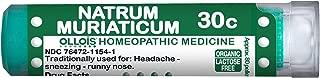 Ollois Lactose Free Homeopathic Medicines, Natrum Muriaticum 30C Pellets, 80 Count