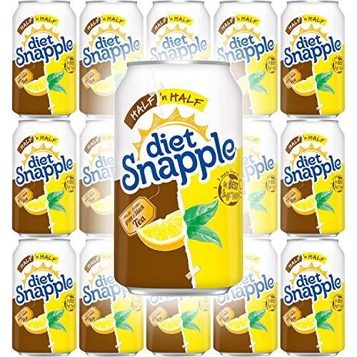 Snapple Diet Half 'n Half Tea, All Natural, 12 Fl Oz Can (Pack of 15, Total of 180 Fl Oz)