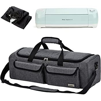 HOMEST Carrying Case Compatible with Cricut Explore Air 2, Cricut Maker, Silhouette CAMEO3, Grey (Patent Design)