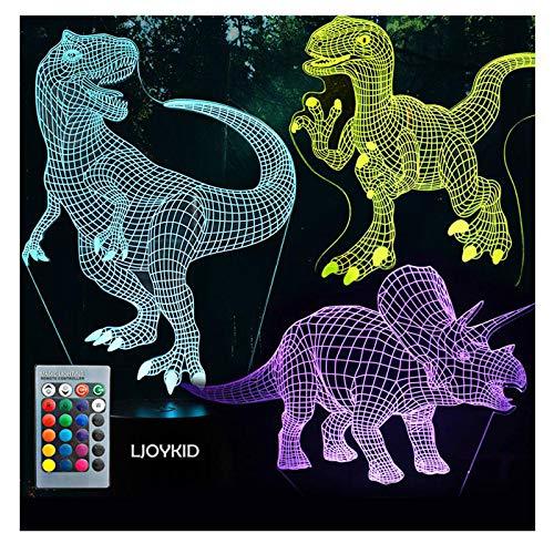 3D Dinosaur Night Light - 3D...