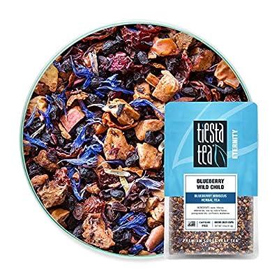 Tiesta Tea - Blueberry Wild Child, Loose Leaf Blueberry Hibiscus Herbal Tea, Decaf, Hot & Iced Tea, 1.9 oz Pouch - 25 Cups, Natural Flavors, Herbal Tea Loose Leaf Blend (Pack of 6) by Tiesta Tea