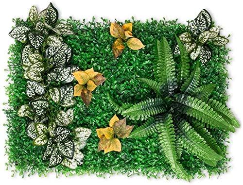 10 paneles de protección de setos con flores artificiales de hiedra para protección UV, interior y exterior, valla de privacidad, pared de césped, fondo verde 11.21 (color : E)