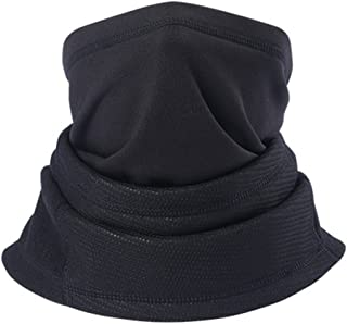 Unisex Neck Warmer Winter Windproof Mouth Face Mask Outdoor Sports Neck Warmer (Black)