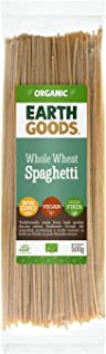 Earth Goods Organic whole wheat spaghetti Pasta, NON-GMO, Vegan, High Fiber 500g