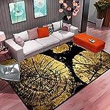 QLXG Alfombras Sala de Estar Dormitorio Alfombra de Arte Floral Abstracto Alfombra Antideslizante Alfombra Grande Alfombra de Piso Alfombra de Cocina Elegante Área Alfombra 60X90 cm S 7