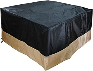 Stanbroil 40-Inch 600D Heavy Duty Patio Square Cover for Outdoor Fire Pit and Table,100% Waterproof, Black