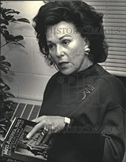 1987 Press Photo Bess Myerson, Author of