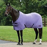 (サクソン) Saxon 馬用 Element スタンダードネック ポーラーフリースラグ 乗馬 ホースライディング (6 フィート 9) (パープル/ネイビー)