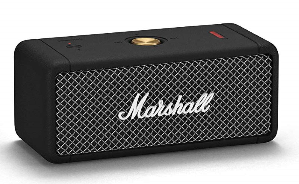 Marshall Emberton Portable Bluetooth Speaker, Black