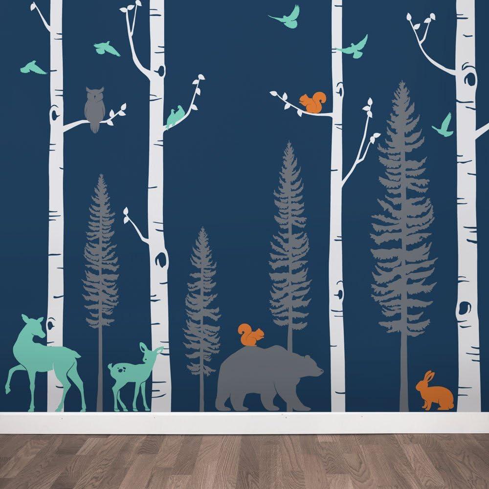 Birch Trees with Animals Wall Decal 新作からSALEアイテム等お得な商品 満載 - 305 120