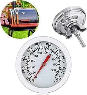 EAGLESTIME Grill Thermomete,Edelstahl BBQ Thermometer für alle Grills, Smoker, Räucherofen und Grillwagen, Doppelte Temperaturanzeige 50-500/100-1000