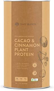 Bare Blends - Cacao & Cinnamon Plant Protein | Vegan Protein Powder | Certified Organic | Gluten Free | 1kg
