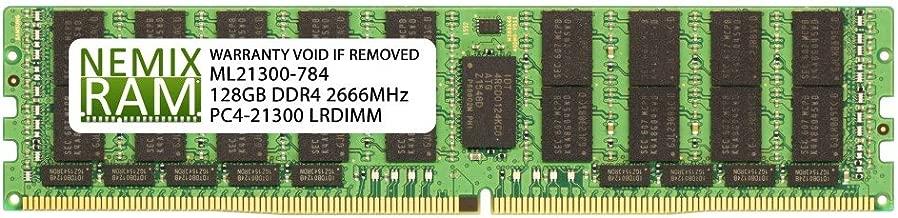 128GB (1x128GB) DDR4-2666MHz PC4-21300 ECC LRDIMM 8Rx4 1.2V Load Reduced Memory for Server/Workstation