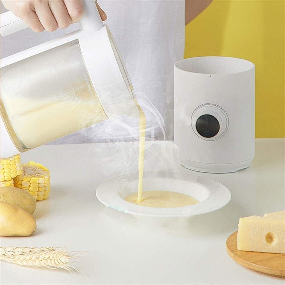 400ml Mini Portable Blender 7 Functies 12u Timing Preset Ontwerp OLED-scherm Sharp Steel Cutter Food Processor (Color : White) White