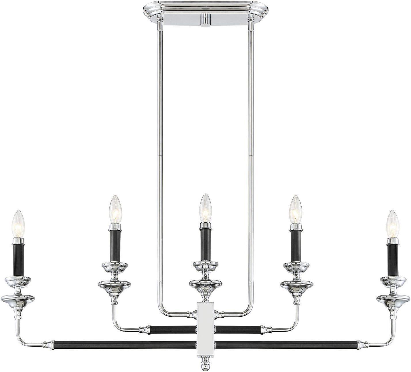 Savoy House 1-9851-5-67 Large special price Davidson Black Sale Linear Light C Chrome 5