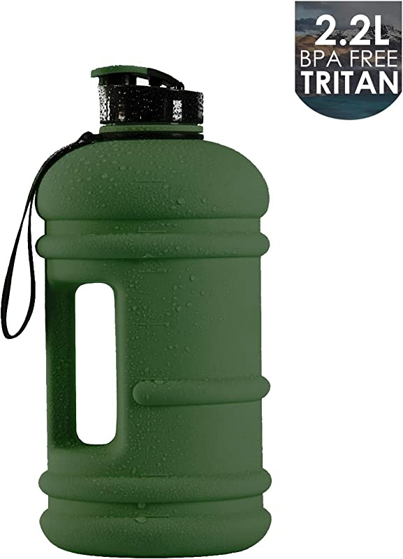 Moonice 1Gallon Half Gallon 1 3L Dishwasher Safe Big Capacity BPA Free Leakproof Plastic Gym Sports Water Bottle 2 2L And 1 3L Large Drinking Water Jug Hydrate Container