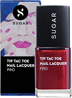 SUGAR Cosmetics Tip Tac Toe Nail Lacquer - 061 Rise From The Red (Red Foil)