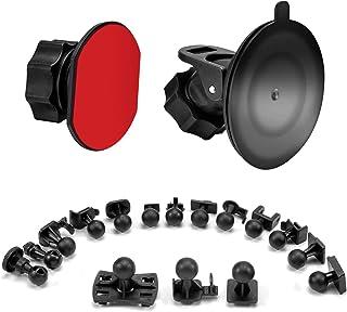 SoeKoaドライブレコーダー 吸盤 マウント および接着剤マウント360度回転 吸盤式 ホルダー ブラケット、16つ異なるアダプタ付け、VANTRUE、Silintion、APEMAN、YI、Anero、Chortau、MILKFAT、Mus...