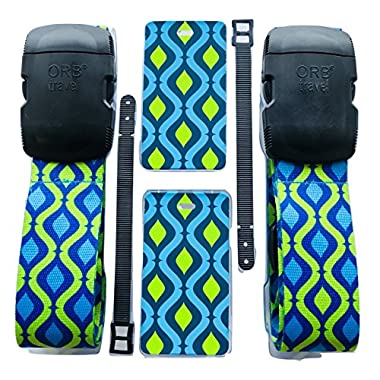ORB - Travel Essentials Kits - Luggage Strap Heavy Duty Buckle. (TE205-Blue/Green)