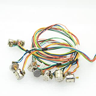 10pcs 2-Phase 4-Wire Micro 8mm Stepper Motor Mini Stepping Motor with Copper Gear