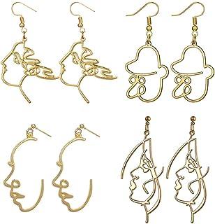 14k or Jaune Blanc Accent-Femme Spirale Cocoon Drop Dangle Earrings