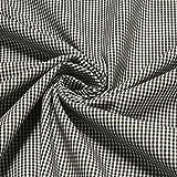 Stoff Baumwolle Vichy Karo klein schwarz weiß 1,5 mm