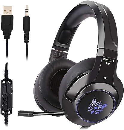 Qingta Gaming Headset, Confortevole Illuminazione LED Cuffie Over-Ear con Microfono per PS4Nintendo Xbox One PC Laptop Mac Tablet con cancellazione del Rumore e Controllo del Volume - Trova i prezzi più bassi
