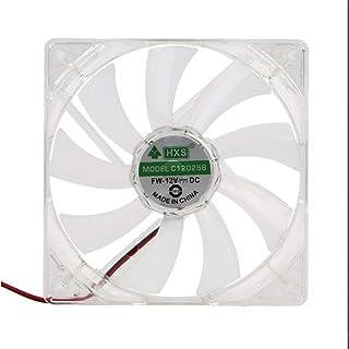 Ba30DEllylelly Ventilateur d'ordinateur PC Quad 4 lumière LED 120mm boîtier d'ordinateur Ventilateur de Refroidissement Mo...