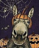 Aperiy Kürbis Halloween Hello Sweet Face Esel Poster