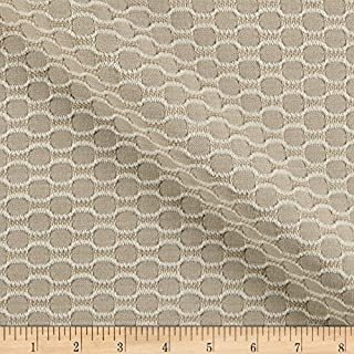 Sunbrella Sand Outdoor Dimple Exclusive Geo Chenille Jacquard Fabric by The Yard