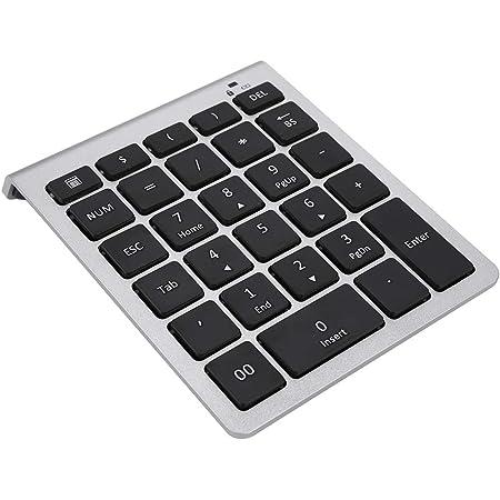 Topiky 28 Teclas 2.4G Mini Teclado numérico inalámbrico Numpad Teclado pequeño, Listo para Usar(Plata)