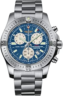Breitling Colt Chronograph Blue Dial Stainless Steel Mens Watch A7338811/C905/173A