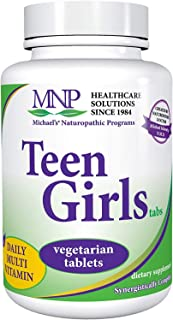 Michael's Naturopathic Programs Teen Girls - 90 Vegetarian Capsules - Daily Multivitamin & Mineral Supplement with B Compl...