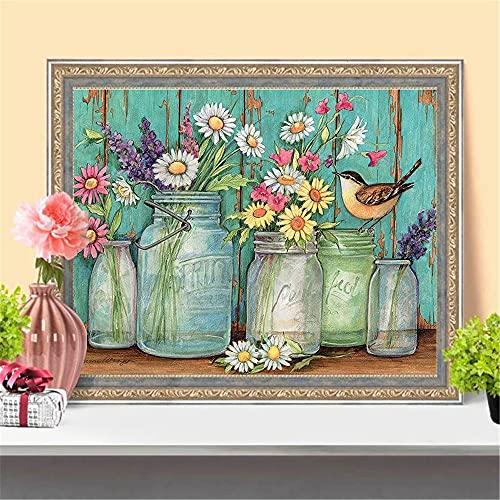 Kit Per Pittura Diamante A Mosaico Fai Da Te 5D,fiore uccello Diamond Painting 30x40cm5d arte diamante Trapani per Adulti Pasted Art Crafts per casa, Ufficio, Decorazioni murali