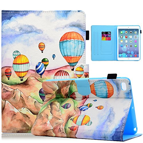 Dteck iPad Mini 1/2/3/4 Case - Slim Fit Folio Stand PU Leather Case Wallet with Auto Wake/Sleep [Magnet/Stylus Slot] Smart Cover for Apple iPad Mini 3 / iPad Mini 2 / iPad Mini 1, Balloon