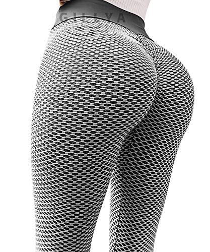GILLYA Butt Lift Yoga Pants Tiktok Butt Leggings Women TIK Tok Butt Lift Textured Anti-Cellulite Leggings