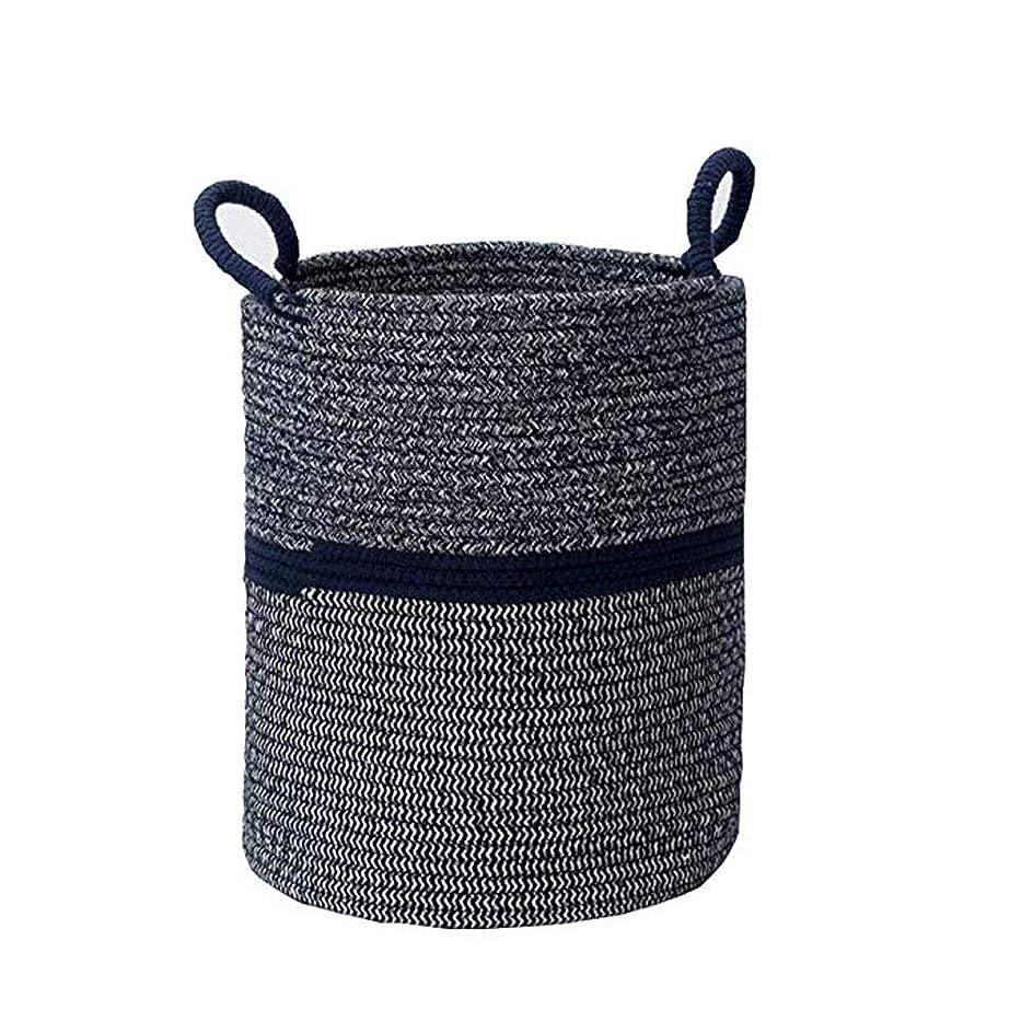 たまに名誉ある世界の窓DHINGM 家族のニーズを満たすために 材料で作られた大容量のヨーロッパとアメリカのシンプルな織り収納バスケット、スナックとゴミのおもちゃ収納ボックス (Size : 36x42cm)
