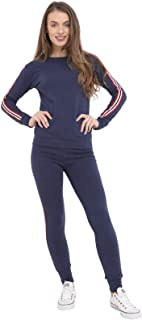 Shocknshop Multi Side Stripes Tracksuit Long Sleeve Top And Jogger Pants Ladies Loungewear Set for womens (LEG63)