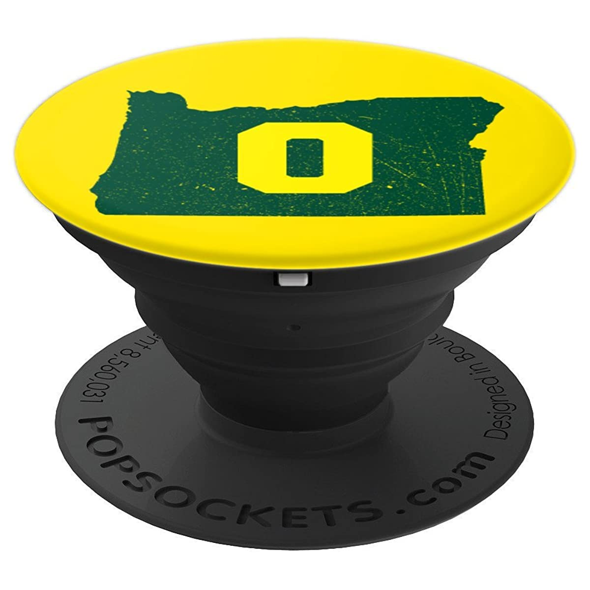 Oregon Green and Yellow Vintage State Map - PopSockets Grip and Stand for Phones and Tablets