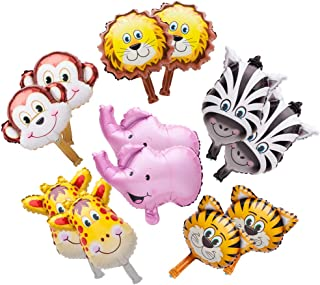 SUN-E Mini Animals Balloons Jungle Safari Animals Theme Birthday Party Decorations For Kids Children Hand caught balloon 12PCS In set