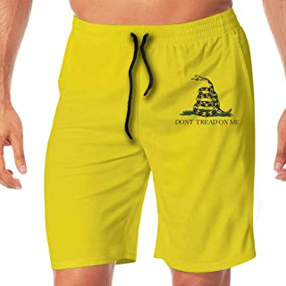 Dont Tread On Me Gadsden Flag Snake Men's Beach Board Shorts Swim Trunks Casual Gym Home Pants with Pocket