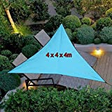 Generic 6x6x6m Triangle Sun Shelter Water Resistant Sun Shade Sail Canopy Camping Tent