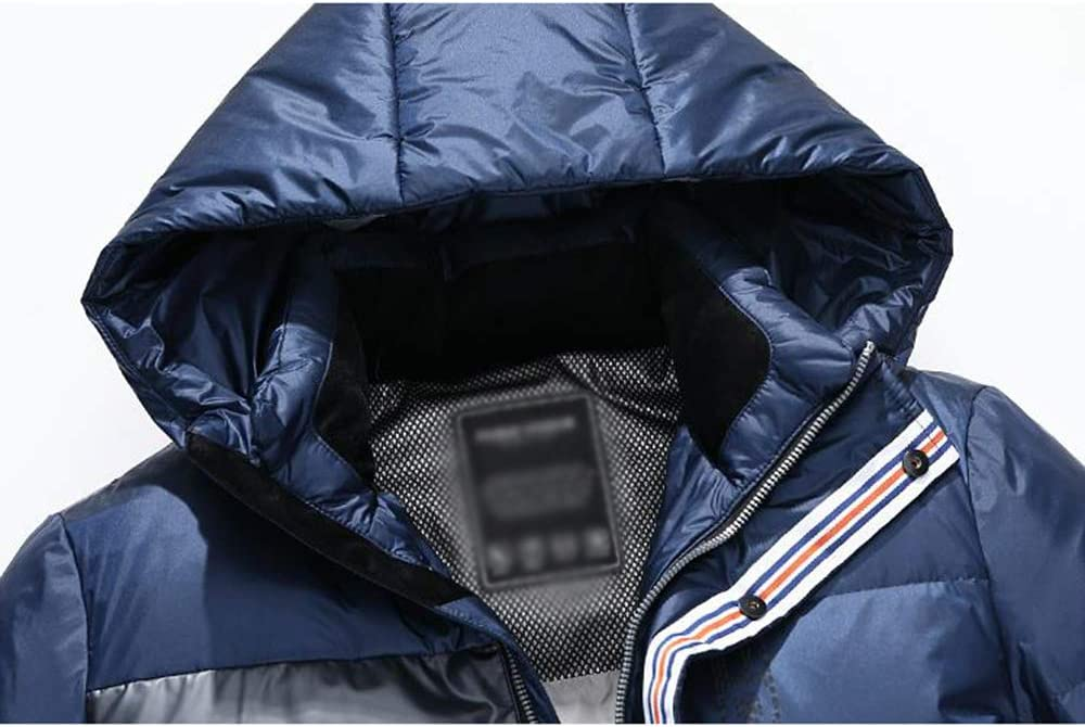 Down jacket Winter Men's, Middle-Aged Hooded Short Paragraph Thicken Warm Jacket, Padding: 90% White Duck Down (Size: M, L, XL, 2XL, 3XL)