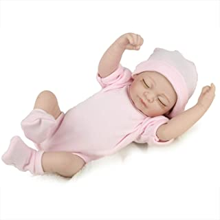 """TCBunny PENSON & CO. Reborn Newborn Baby Realike Doll Handmade Lifelike Silicone Vinyl Weighted Alive Doll for Toddler Gifts 10"""""""
