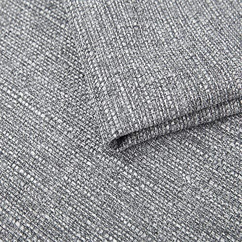 Pure Textilien Webstoff Strukturstoff Portland - Möbelstoff Polsterstoff Uni Meterware - hellgrau 90
