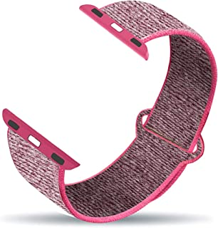 CREATESTAR Sport Loop Band Compatible with Apple Watch 38mm 42mm 40mm 44mm, Soft Lightweight Breathable Nylon Replacement Band Compatible for iWatch Series 5/4/3/2/1