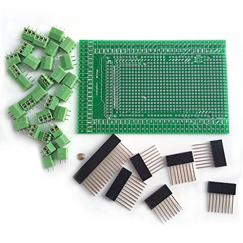 Yintiod Prototypen-Kit für Schraub- / Anschlussblock-Abschirmplatinen für ArduinoMEGA-2560 R3