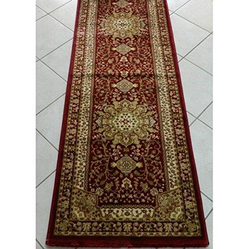 Imperial - Cortinas de alfombra Obama rojo, 70 x 490 cm